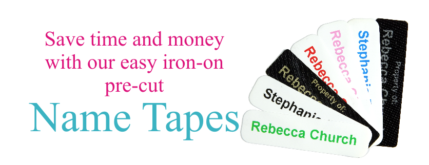 NameTapes Direct can save you time and Money with our Easy Iron-On Name Tapes