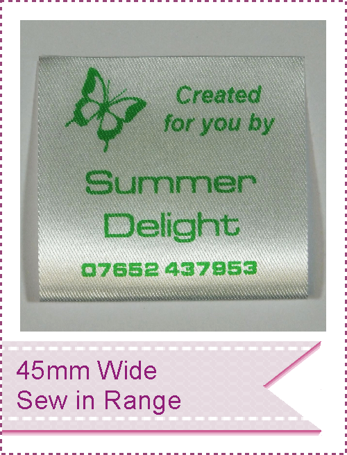 $%mm wide range of Sew-In Garment Labels