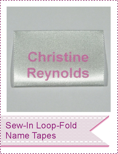 Soft Satin Sew-in loop fold name labels