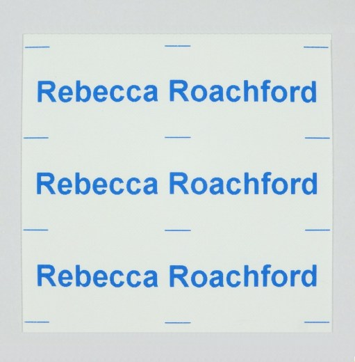 Iron on labels for school or nursery - choice of 5 colours