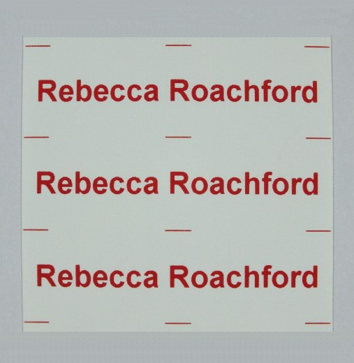 Your name printed on Iron on Nametapes in a choice of colours