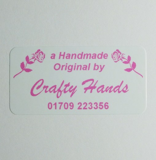 Rose design craft label