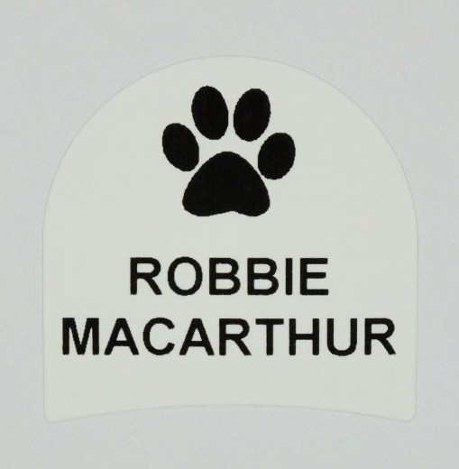 Paw print shoe labels | NameTapes Direct