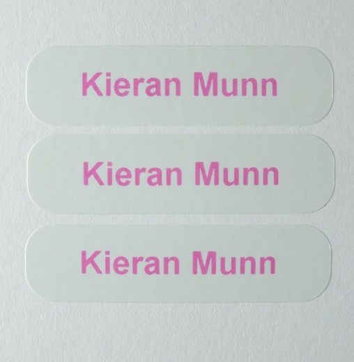 Personalised sticker printed with your name up to 27 characters