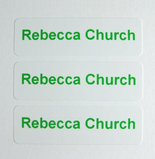 Waterproof Peel 'n' Stick Labels 1 Line