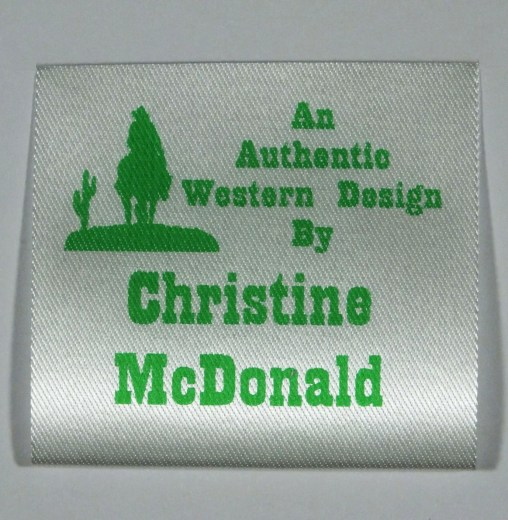 Soft Satin Sew Craft Label 13 Green 45mm wide