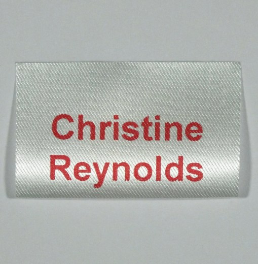 Soft satin feel sew in labels for School Uniforms