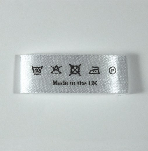 End sewn Wash Care label 45mm